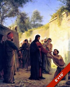 JESUS HEALING THE BLIND CARL BY BLOCH CHRISTIAN BIBLE PAINTING ART PRINT CANVAS