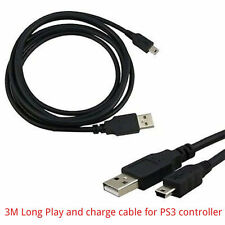3M / 9ft Long Charging Lead Cable for PS3 Controller Pad USB play & Charge Lead