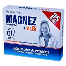 Magnesium Vitaminum B6 , 60 TABLETS Magnez Witamina B6 , Magne B6 UK Seller