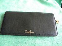 BEAUTIFUL Black Pebbled Leather Grain Womens Cole Haan Wallet - MSRP $189