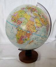 "2006 - 2011 REPLOGLE 12"" WORLD NATION SERIES Raised Relief GLOBE  Wood Base"