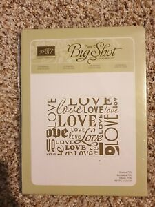 New! Stampin' Up! Lots of Love Letterpress Sizzix Big Shot 120983