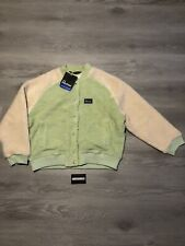 Penfield Evelyn Knitted Fleece Mint Jacket Size L Large 14 Brand New