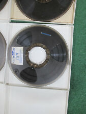 """4pc  REEL TO REEL 10 1/2"""" x 1/4"""" with plastic reels ( used )"""