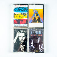 Lot of 4 Cassettes Police / Sting Syncronicity Zenyatta Mondatta Singles Sun