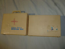VINTAGE FISHER PRICE MEDICAL KIT LOT 1977 DOCTOR NURSE CHILD PRETEND PLAY TOYS >