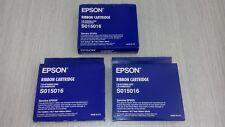 Stock 3 nastro originale EPSON S015016 nylon nero stampante aghi LQ680/860/1060