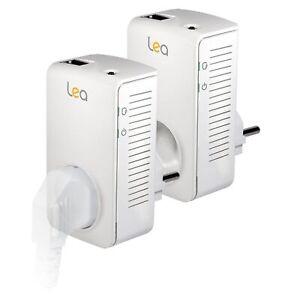 Lea NetSocket 600 Powerline Adapter 600Mbps Netzwerkadapter 2 Stück Set #T-35