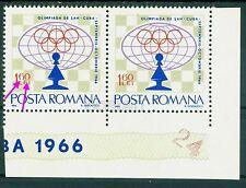 1966 Chess Olympiad,Pawn,cCuba,Schac h,Scacchi,Romania,M.2482,V eriety/Error(4)Mnh