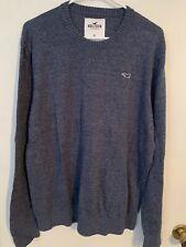 Hollister Sweater - Size XL - Blue/Gray - Long Sleeve - Crew Neck - Lightweight