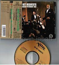 OSCAR PETERSON TRIO We Get Requests JAPAN 24k GOLD CD POCJ-9010 w/OBI+PS FreeS&H