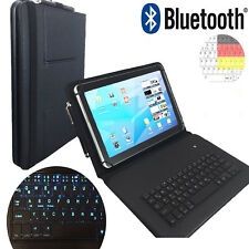 LED Deutsche Tastatur - PU Hülle Samsung Galaxy Tab A6 10,1 zoll Tablet LT1