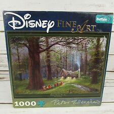 Disney Fine Art Snow White Off To Home We Go Puzzle Peter Ellenshaw 7 Dwarfs