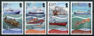 Falkland Islands Ships Stamps 2017 MNH Fisheries Boats Fish Fishes 4v Set