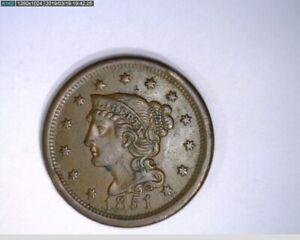 1851 Large Cent Braided Hair ( 71-295 5M/o )