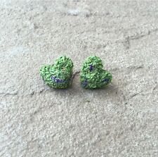 Handmade Sculpted Weed Nug Stud Earrings