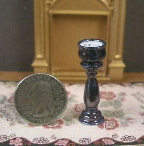"1/2"" ~ HALF SCALE ~PORCELAIN 2 PIECE PLANTER ~Dollhouse~UK~1:24  Artisan~ Cobalt"