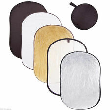 """Photography 40x60"""" 5in1 Light Mulit Collapsible Portable Photo Reflector 110x150"""