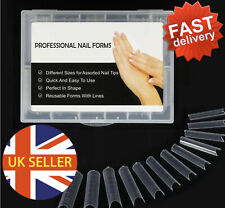 Dual Smart Forms Nail Tips Extensions Builder Poly Gel Acrylic 120pcs/box ~ UK~