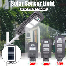 20/40/60W LED Solar Motion Activated Sensor Wall Street Light Outdoor  1 F