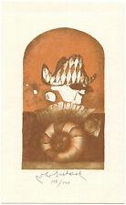 VLADIMIR SUCHANEK: Exlibris für MuDr. R. Pribys, Harlekin, 1986