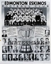 CFL 1954 Edmonton Eskimos Grey Cup Champion Team Picture 8 X 10  Photo Picture