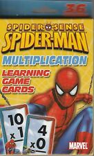Spider-man Spider Sense 36 Multiplication Learning Game Cards Spiderman New