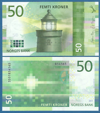 Norway 50 Kroner P New 2017 (2018) Unc Low Shipping! Combine Free!