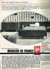 B- Publicité Advertising 1966 Meubles Mobilier de France Lit Chambre à coucher