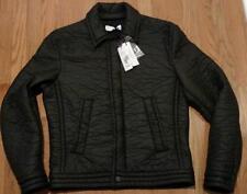 $995 Mens Versace Collection Textured Spread Collar Jacket Black 54 XL