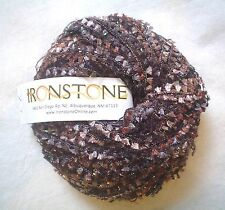Ironstone Hot Stuff Yarn Chocolate Metallic & Texture FUN Worsted Flag 50 Grams