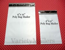 "50 Poly Bag Postal Mailing Envelope Combo 9""x 12"" & 6""x 9"" Self-Sealing Mailers"
