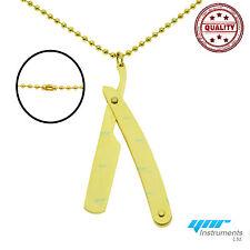 YNR Barber Necklace Vintage Jewellery Razor Beaded Chain Aluminium