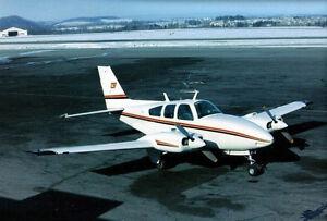 1/10 Echelle Beechcraft Baron Plans, Gabarit Et Instructions 48ws