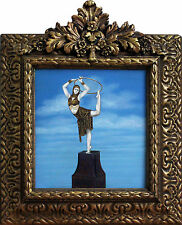 Hungarian Chiparus Bronze Oil Painting by Kristina Nemethy of Ring Dancer Woman