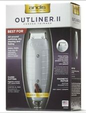 Andis Outliner II Corded Trimmer with Adjustable Speed and Cleaning Supplies