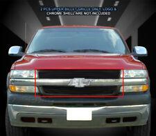 Fits 2001-2002 Chevy Silverado 2500 3500 Black Billet Grille Grill