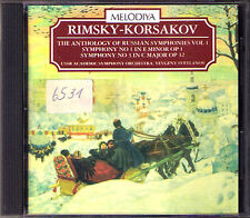 Evgeny SVETLANOV: RIMSKY-KORSAKOV Sinfonien 1 & 3 USSR MELODIYA CD Symphony