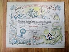 "Golden Shellback ""To All Sailors..."" U.S. Navy Equator-Crossing Certificate 1970"