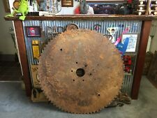 Vintage Industrial Rustic Milling Stone Cutting Saw Blade Bar Man Shed