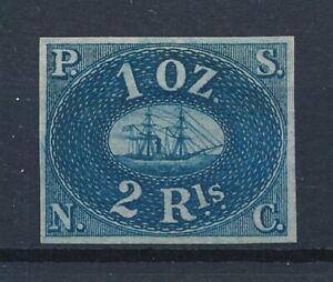 [58347] Peru 1857 good Imperf Mint no gum VF full margins Unissued stamp