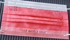 Trump 2020 Disposable Face Mask - Made in USA 3 Ply 50 Pack - Keep America Great