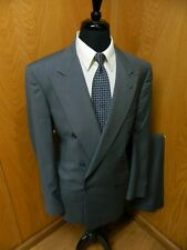 Allyn St George Suit  42XL 32W X 35 Double Breast Gray Check  NWOT T#21
