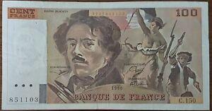 Billet 100 francs Eugène DELACROIX 1990 FRANCE  C.150  851103
