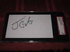 Johnny Gaudreau Autographed 3X5 Index Card-Sgc Slab-Encapsulated-Full Pre Nhl