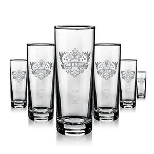 6 x Smirnoff Glas Gläser Longdrink Frosted Logo 0,2l Gastro Bar Deko NEU