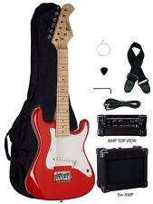 "New Raptor EP-5 Mini ST RED 31"" Kid's Electric Guitar Pack w/ 5 Watt Amp"