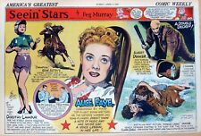 Seein' Stars - half-page Sunday comic April 7, 1940 - Gene Autry & Champion