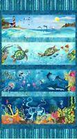 Ocean State Panel Cotton Quilt Fabric StudioE 4503P-11