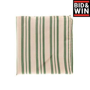 RRP €140 ARMANI COLLEZIONI Silk Pocket Square Handkerchief Striped Made in Italy